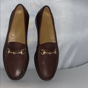 COLE HAAN WOMEN'S BROWN LEATHER MOCCASINS SIZE 8 M